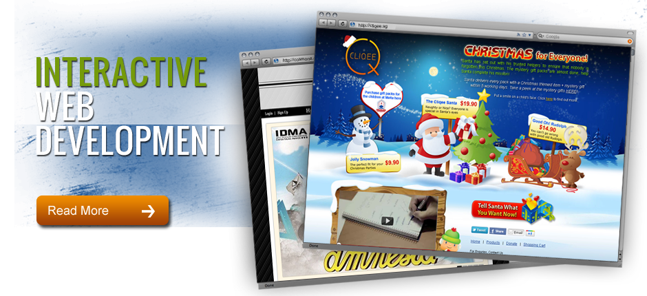 Interactive Web Development Banner